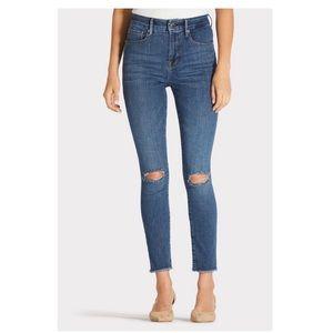 Good American Good Legs Crop Fray Hem, size 12/31